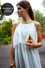 TFNC Paula Embellished Halter Babydoll Dress