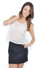 TFNC Sibby Quilted Mini Skirt