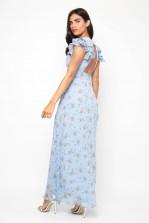 TFNC Elana Floral Blue Maxi Dress