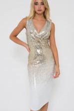 TFNC Nereida Sequin Ombre Midi Dress