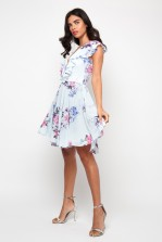 TFNC Noshin Blue Floral Skater Dress