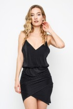 TFNC Negin Black Mini Dress