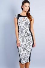 TFNC Luciana Textured Body Con Dress