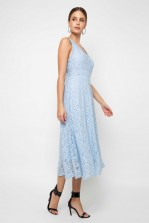 TFNC Majorelle Sky Blue Maxi Dress