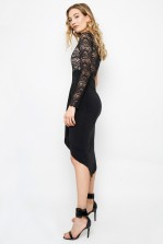 TFNC Kalya Black Midi Dress