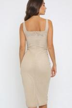 TFNC Nuria Nude Midi Dress