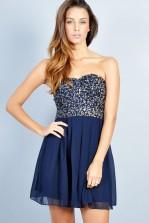 TFNC Tami Sequin Bandeau Dress
