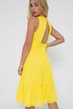 TFNC Roselina Yellow Midi Dress