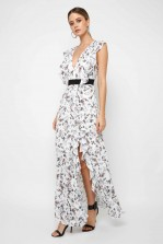 TFNC Satya White Floral Maxi Dress