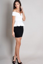 TFNC Tasha Sweetheart Peplum Dress