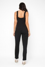 WalG Deep V Black Jumpsuit