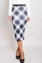 TFNC Iris Plaid Print Pencil Skirt