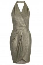 TFNC Odela Gold Metallic Dress