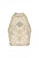 Lace & Beads Paula Beige Top