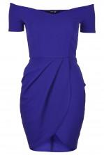 TFNC Carel Royal Blue Off Shoulder Dress