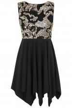 TFNC Nancy Black Sequin Dress