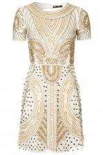 Lace & Beads Tara Nude Embellished Dress