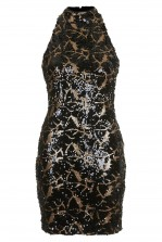 TFNC Animal High Neck Sequin Dress