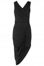 WalG Drape Midi Black Dress