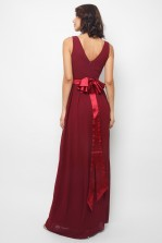 TFNC Kily Burgundy Maxi Dress