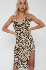 TFNC Janina Animal Print Midi Dress