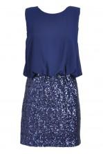 TFNC Michelle Blouson Top Sequin Dress