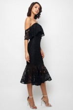 TFNC Vinnie Black Midi Dress