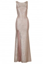TFNC Fatima Rose Gold Maxi Dress
