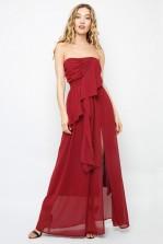 TFNC Olivia Burgundy Maxi Dress