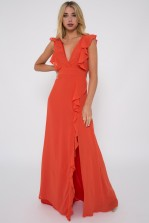 TFNC Isabeen Coral Maxi Dress