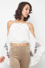 Lace & Beads Yuri White Top
