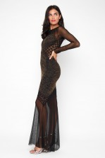 TFNC Basa Black Maxi Dress