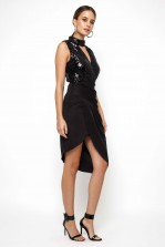 TFNC Trilby Black Sequin Dress
