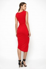 WalG Knot Tie Red Dress