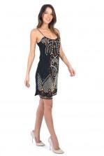 TFNC Lina Embellished Shift Dress
