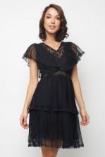 Lace & Beads Crimsin Black Dress