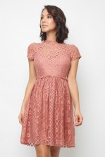 Lace & Beads Pete Dusty Pink Dress