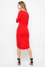 TFNC Jordana Red Midi Dress