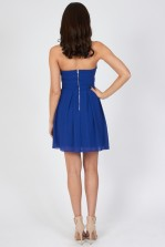 TFNC Elida Blue Chiffon Dress