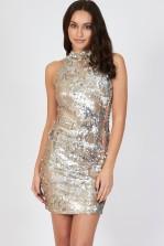 TFNC Paris High Neck Sequin Dress