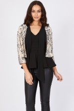 Lace & Beads Beatle Beige Jacket