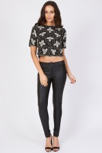 Lace & Beads Flower Top