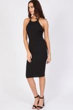 TFNC Kimy Black Bodycon Lace Back Dress