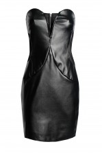 TFNC Halo PVC Black Mini Dress