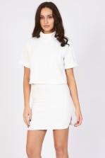 TFNC Douglas White Mini Skirt