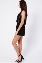 Lace & Beads Sharon Black Playsuit