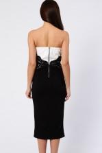 TFNC Kelly Black Bandeau Midi Dress