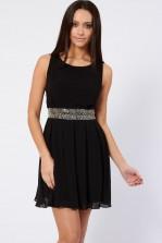 TFNC Della Black Embellished Dress