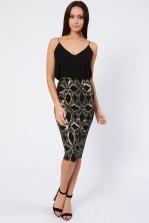 TFNC Kirsty Black Midi Dress