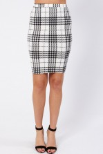 TFNC Jane Plaid Midi Skirt